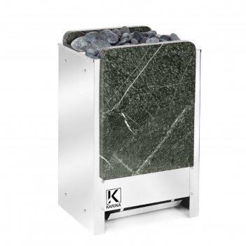 Электрическая печь karina tetra 12, нержавеющая сталь, камень серпентинит