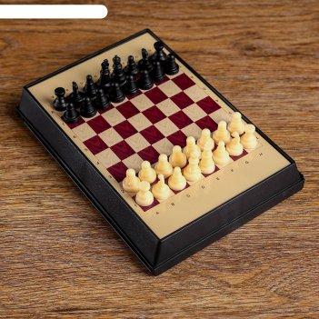 Игра настольная шахматы, с ящиком, магнитные, в коробке 7х12см