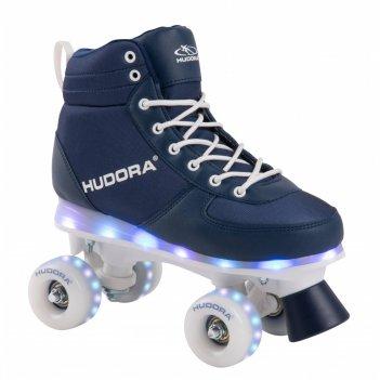 Роликовые коньки hudora roller skates advanced, navy led,  size 29/30 (131