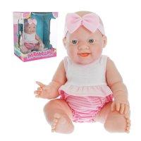 Малышня пупс в розовом костюмчике и повязке, №sl-1073f