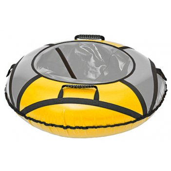 Сноутюбинг: надувные ватрушки 110см оранжево-серый