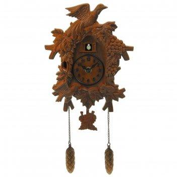 Часы настенные с кукушкой лесные жители 17,5*22см пластик