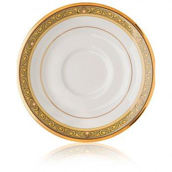 Блюдце для чашки чайной 15,5см церемония, золотой кант