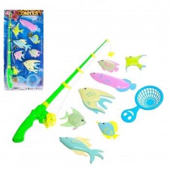 Рыбалка морские жители 7 рыбок, сачок