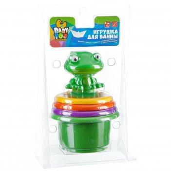 Пирамидка с лягушкой - игровой набор для купания bondibon