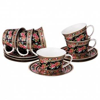 Чайный набор на 6 персон 12 пр 280 мл (кор=8набор.)