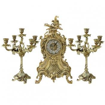 Каминные часы с канделябрами карранка велло