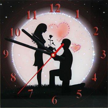 Картина сваровски - часы под луной