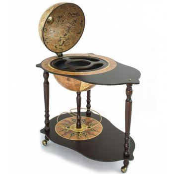 U.030 глобус-бар со столиком микеланджело, d.40