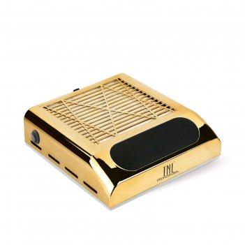 Пылесос для маникюра tnl vortex, 80 вт, 3200 об/мин, 1 фильтр, золотистый