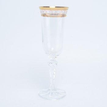 Набор фужеров для шампанского crystalex bohemia кристина золотой лист v-d