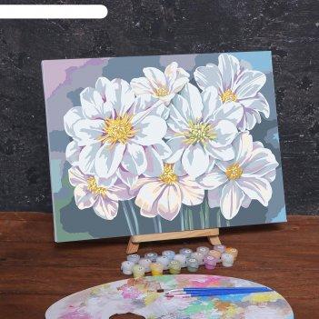 Картина по номерам на холсте с подрамником «цветы», 40х30 см