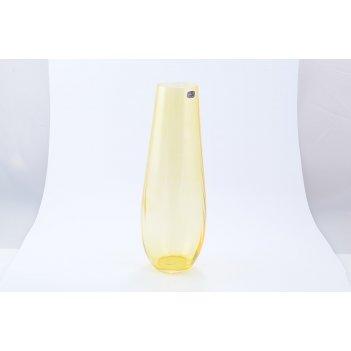 Ваза желтая crystalex bohemia waterfall 34 см