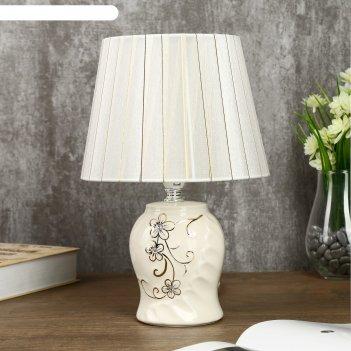 Лампа настольная золотое цветение 1х40вт e14 белый 20х20х29,5 см