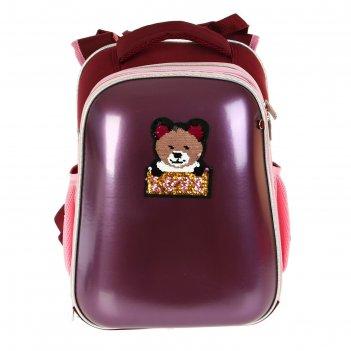 Рюкзак каркасный, devente choice, 38 х 28 х 16 см, иск кожа glamour owl, р