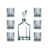 Набор из 7-и предметов для виски: декантер, объем: 750 мл + 6 стаканов, об