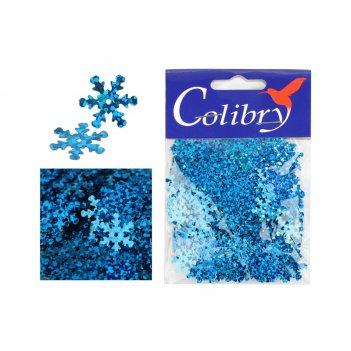 Пайетки фигурные голографические colibry 15х15мм(снежинки)