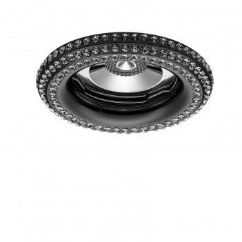 Светильник встраиваемый miriade 50вт gu5.3; gu10 черный, хром