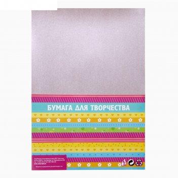 Бумага для творчества фактурная нити стальные формат а4 (набор 10 листов)