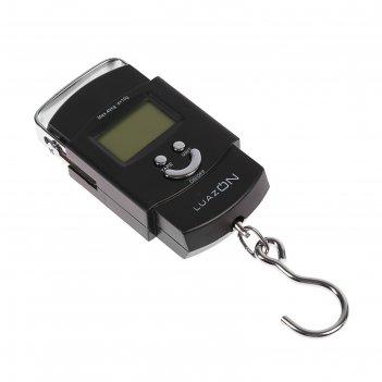 Безмен luazon lv-504, электронный, до 40 кг, от аа х 2, чёрный