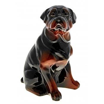 Копилка собака ротвейлер большой глянец