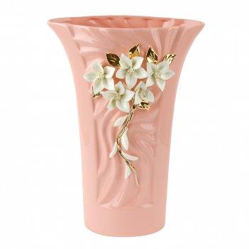 Ваза декоративная цветочное колье 20*9,5*29см. (фарфор) (подар