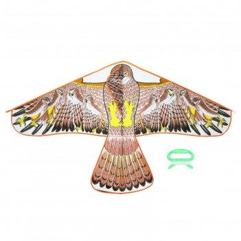 Воздушный змей птица с леской, цвета микс
