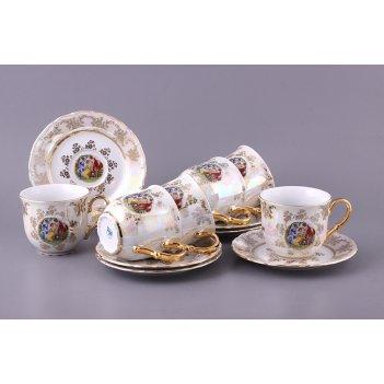 Чайный набор на 6 персон 12 пр. мадонна 330 мл