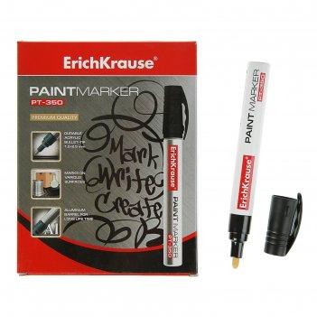 Маркер-краска (лаковый) 2.5 мм erich krause pt-350, чёрный