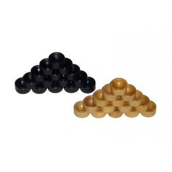 Комплект фишек для игры в дорожные нарды (тонированный самшит/самшит)