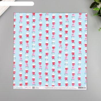 Бумага для скрапбукинга shimelle clean cup 30.5х30.5 см, 190 гр/м2
