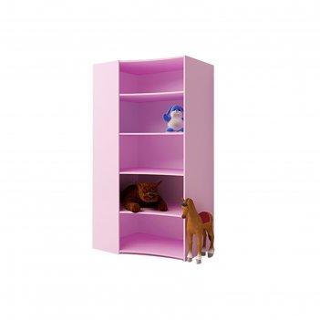 Угловой стеллаж, 750 x 910 x 1970 мм, цвет розовый