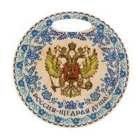 Разделочная доска россия, гжель полноцветная печать