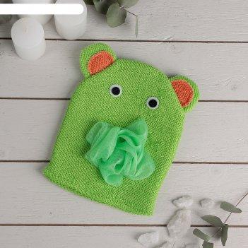 Мочалка-варежка детская «слоник», цвет микс