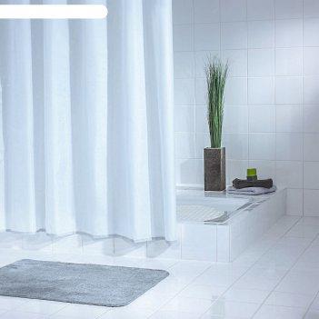 Штора для ванной комнаты standard, цвет белый 240х180 см