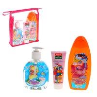 Подарочный набор: средство для купания, детский крем, жидкое мыло