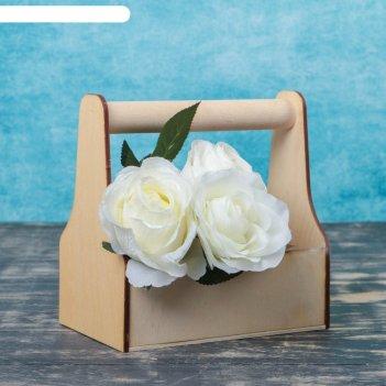Ящик для инструментов и цветов(кашпо) 20*20*12,5см фанера без рисунка