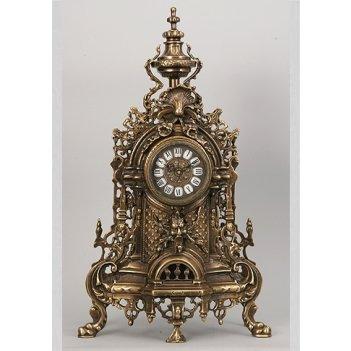 Часы бронзовые каштановые (58х34см)