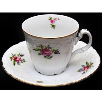 Набор для чая бернадот полевой цветок на 6перс.12пред. выс.