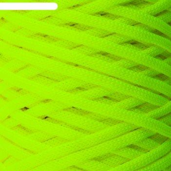 Шнур для вязания классика 100% полиэфир 3мм 100м (501 люм.желтый)