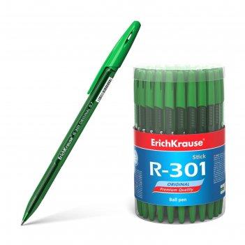 Ручка шариковая erich krause r-301 original stick стержень зеленый 0,7мм 4