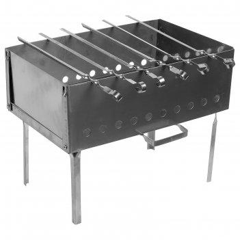 Мангал-дипломат №2 400х250х400, нержавеющая сталь 1,5 мм, с шампурами, в с