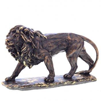 Фигурка декоративная лев большой №2 40х26 (сусальное золото)
