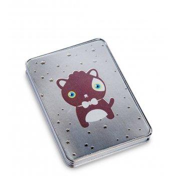 Ww-126/4 зеркало метал прямоугольное милые зверюшки