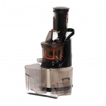 Соковыжималка oursson jm6001/iv, 240 вт, 1 скорость, чёрно-серебристая
