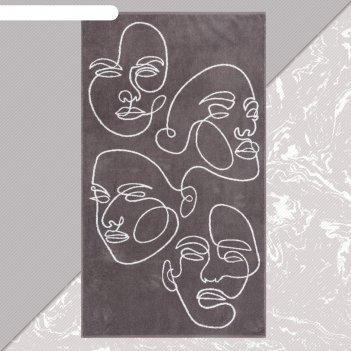 Полотенце махровое этель лица 70х130 см, 100% хлопок, 420гр/м2