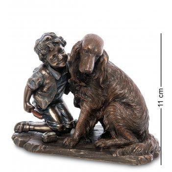Ws-989 статуэтка мальчик с собакой