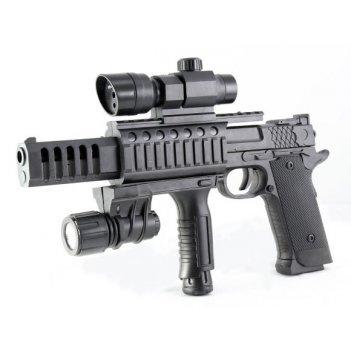 Пистолет мех., прицел, фонарь, 280мм., кор.