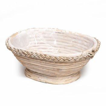 Плетеная корзина-ваза