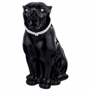 Декоративное изделие черная пантера малая 16*13см. высота=28,5см.